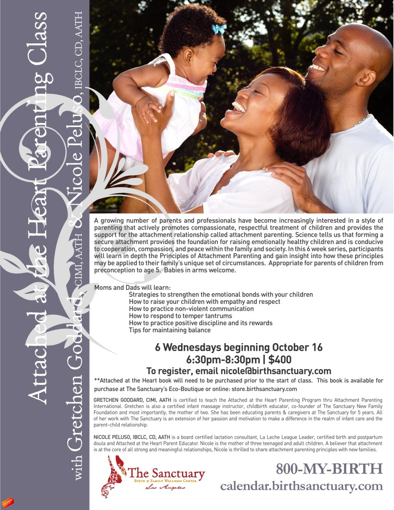 SANC Attachment Parenting Class Flyer
